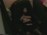 Hidden cam masturbation Japanese video booth