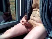 Morning garden wank in the sun! Best time of day!