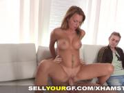 Sell Your GF - Teeny gives pleasure for cash