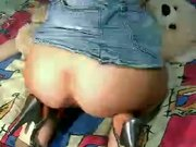 Webcam girl apple in ass & prolapse