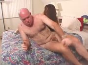 Hairy bush fucked by old man - p2
