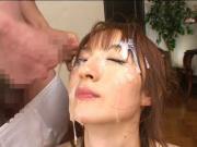 J-Girl Shows Her Bukkake Skills