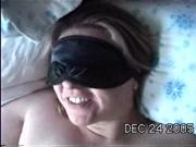 Bound & blindfolded blowjob - the happy ending facial!