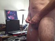 Masturbating exhibitionist & big cumshot toward camera