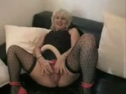 Charlotte and her double dildo