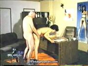Naughty Husband gets Caught by Wife 1970s Vintage