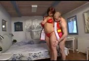 Firewoman fucking a guy at his house