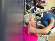 British Milf Working Out