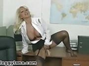 a leggy Lana Cox stockings compilation