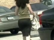 candids - big booty tight black skirt