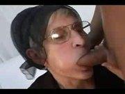 Old Granny in Glasses Fucked