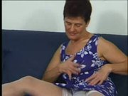 Granny in White Stockings Eats the Boy
