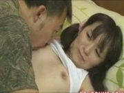 cute small tits japanese girl fucked on the bed