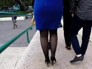 Chica de azul