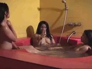 Rub A Dub Dub Three Desi's In A Tub ( LOL ) Lesbian