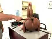Slim negress spanked