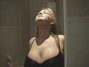 busty blonde under the shower