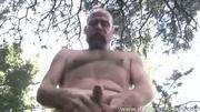 Tank Jerks His Schlong In The Woods