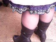 Mature Sexy Legs in Stockings! Amateur mix hidden cam!