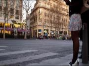 Girl in High heels and Stockings in Paris