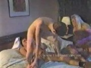 Young Boy get fucked from 2 Matures