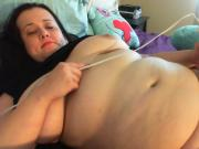 Big girl cums for us
