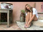 Carla beautiful blonde teasing