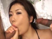 Japanese girl black creampie fuck