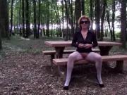 flashing in a wood