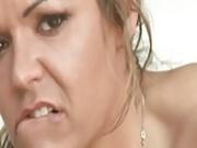 Naughty Milf swallows 10 cumshots GANGBANG