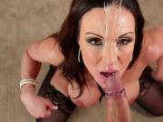 Incredible POV facial cum shower on top milf Kendra Lust