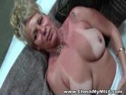 Check My MILF Mature amateur wife taking shower