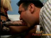 Gorgeous blonde enjoys penetrating her mans asshole