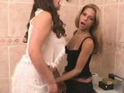 Shemale - Bathroom sex with girl