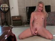 Blonde milfs Shelby and Amanda peel off their pantyhose