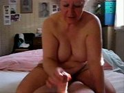 My aunt Mary jerking my cock