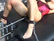 Tanya Danielle chained and machine fucked SMG