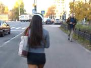 miniskirt public moscow