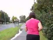 Chubby Dolly jogging