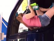 Pink Latina carwash milf series... 6