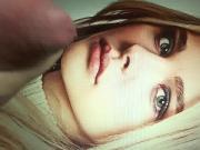 Chloe Moretz cover lips Cum Tribute cam1