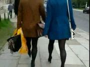 Candid #46 Two girls with sexy legs in nice shoes