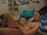 Horny teen fingering on cam