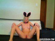 Teen Kaylee Rain models nude in cute bunny ears