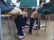 Asian Navy Blue Knee Socks Cum