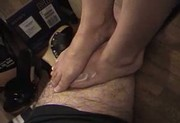 Footjob de su amante