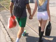 C Thru Shorts Teen with Orange Thong
