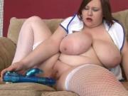 Horny Fat BBW Nurse masturbating yummy pussy