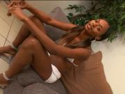 Ebony couple in hot action