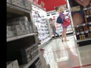 Candid gorgeous blonde in Target